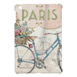 Paris Bike With Flowers iPad Mini Cases