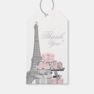 Paris Birthday Party Favor Gift Tags