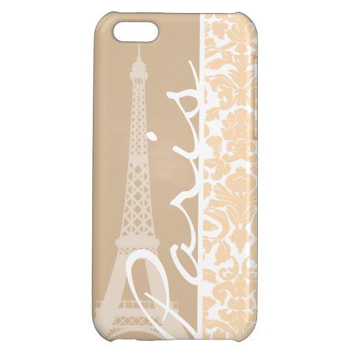 Paris; Bisque Color Damask Pattern iPhone 5C Cover
