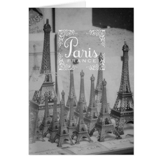 Paris Black and White Travel Notecard Souvenirs