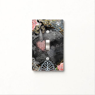 Paris Bling Glamour Sparkle France Girly Trendy Light Switch Cover
