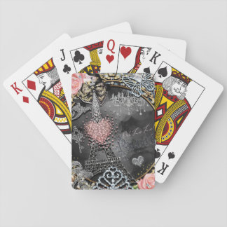 Paris Bling Glamour Sparkle France Girly Trendy Playing Cards