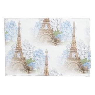 Paris Blue Hydrangea Vintage Romantic Pillowcase