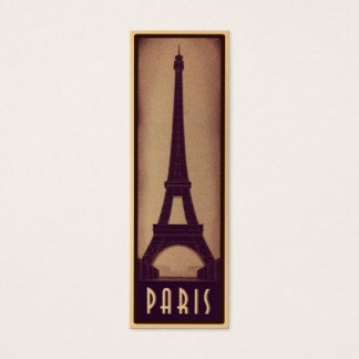 Paris Bookmark Card with Eiffel Tower Silhouette