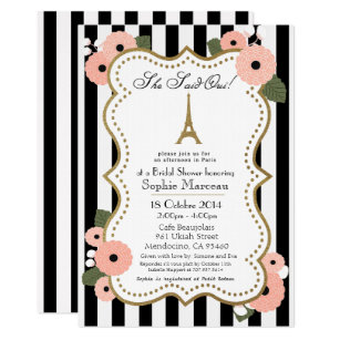Bridal shower invitations announcements zazzle ca paris bridal shower invitation filmwisefo