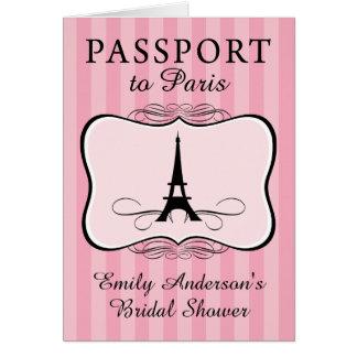 Paris Bridal Shower Passport Card