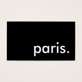paris. business card