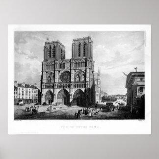 Paris c. 1835 - Notre Dame Poster