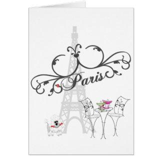 Paris Cafe Card