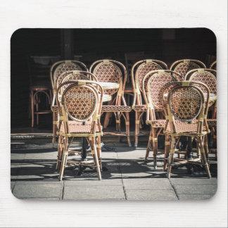 Paris cafe photo Mouse mat