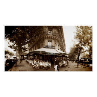 Paris Cafe Scene (I) - Panorama Poster