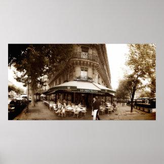 Paris Cafe Scene (I) - Panorama Poster