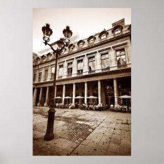 Paris Cafe Scene (III) Poster