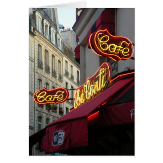 Paris Cafe St Germain, France Card