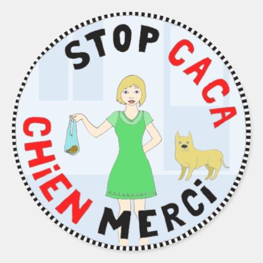 Paris, capitale de la crotte round stickers