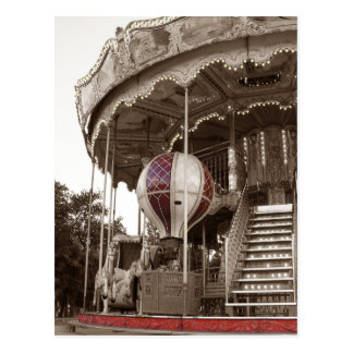 Paris Carousel Postcard