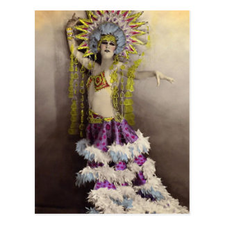 Paris Casino Costumed Dancer Postcard