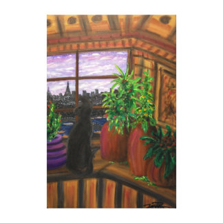 "Paris Cat- 40""x 60"" Gallery style wall canvas"