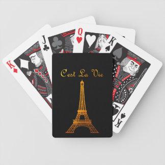 Paris: C'est La Vie Bicycle Playing Cards