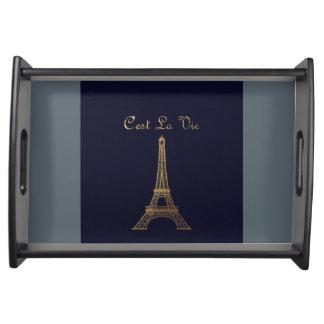 Paris: C'est La Vie Serving Tray