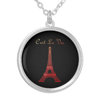 Paris: C'est La Vie Silver Plated Necklace