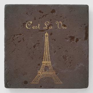 Paris: C'est La Vie Stone Coaster