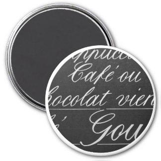 Paris Chalkboard Cafe Menu Magnet