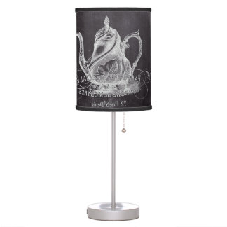 Paris Chalkboard scripts Tea party french country Table Lamp