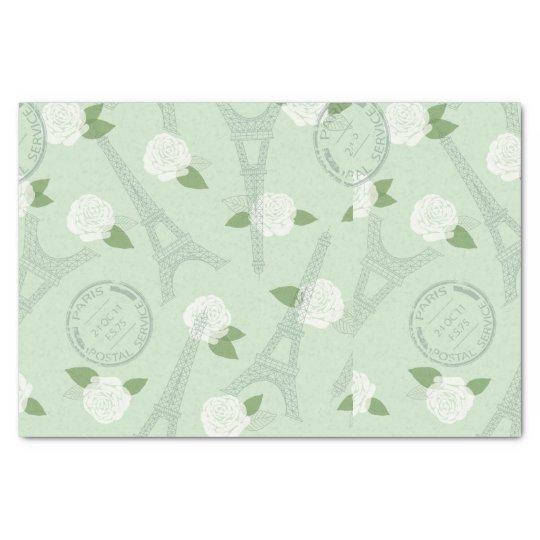 Paris,chic,vintage,mint,green,love,elegant,spring, Tissue Paper