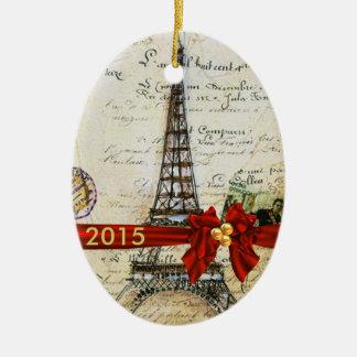 PARIS CHRISTMAS Ornament CUSTOM CHIC 2015