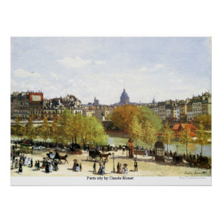 Paris city by Claude Monet Poster