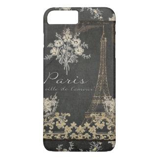 Paris City of Love Eiffel Tower Chalkboard Floral iPhone 7 Plus Case