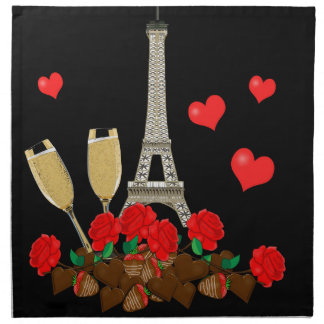 Paris - city of love napkin