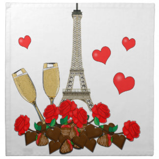 Paris, city of love napkin