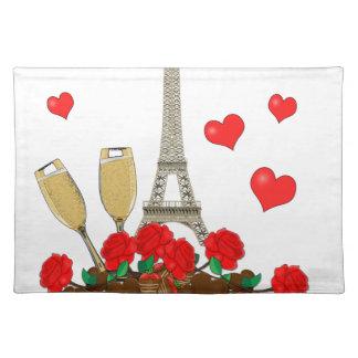 Paris, city of love placemat