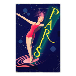 Paris Club vintage travel poster Stationery