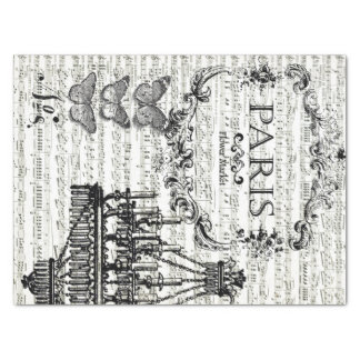 Paris Collage Decoupage Sheet Tissue Paper