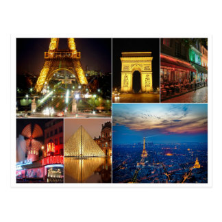 Paris collage france city travel cityscape postcard