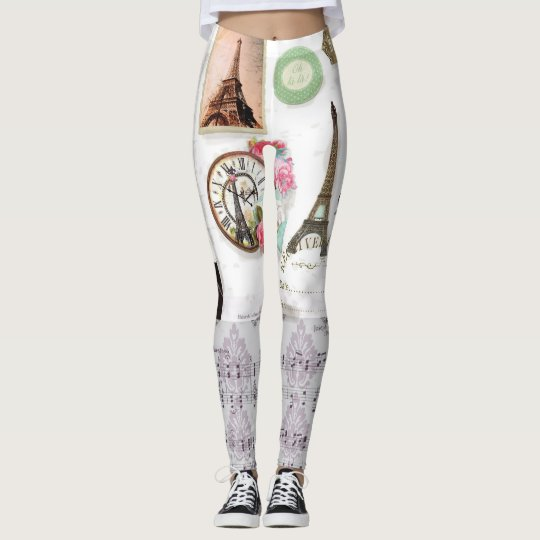 Paris Collage leggings