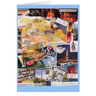 Paris Collage Notecard