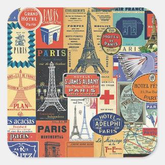 Paris collage square sticker