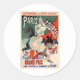 Paris Courses Classic Round Sticker