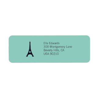 Paris Customizable Return Address Label