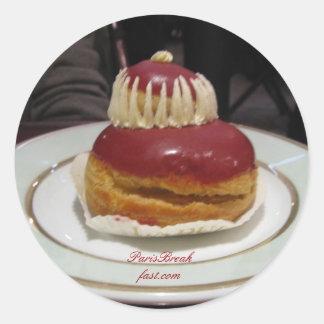 Paris Desserts Classic Round Sticker