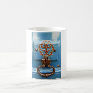 Paris door coffee mug