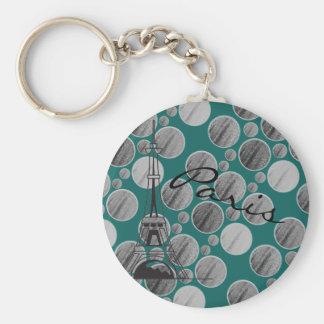 Paris Dot Circle keychain