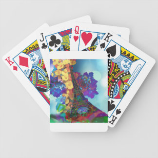 Paris dreams of flowers bicycle playing cards