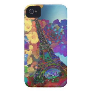 Paris dreams of flowers iPhone 4 Case-Mate cases