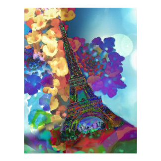 Paris dreams of flowers letterhead