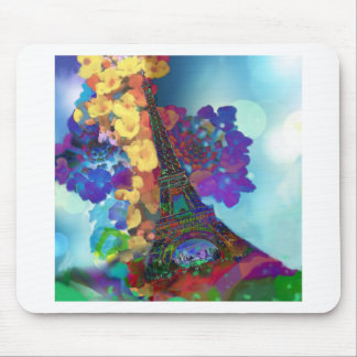 Paris dreams of flowers mouse pad
